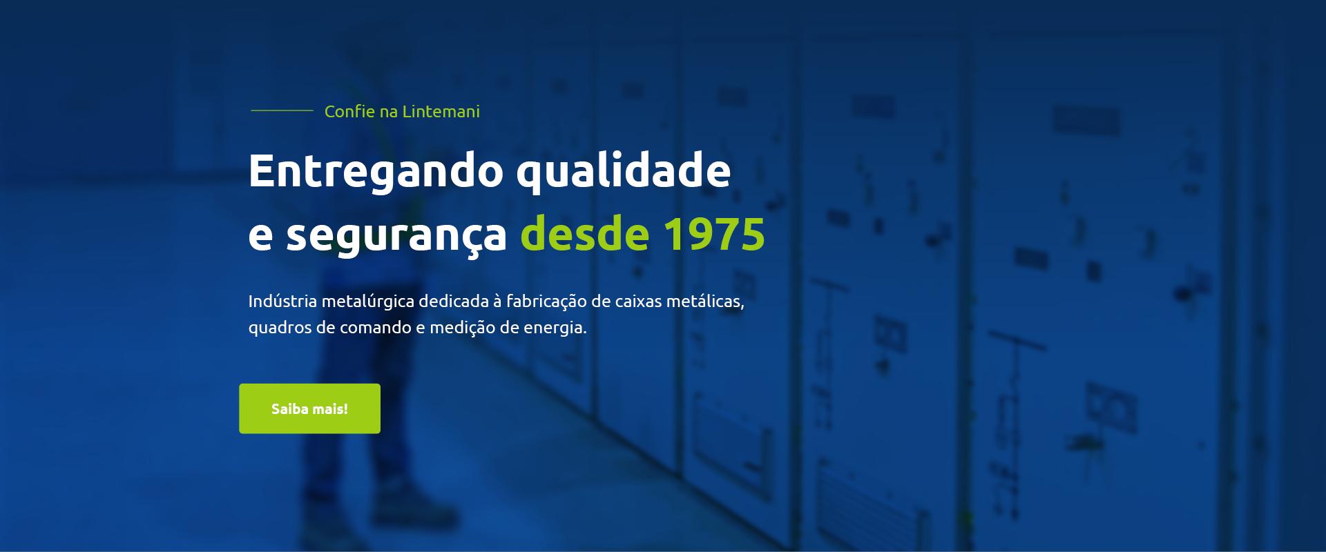 Lintemani Eletro Metalúrgica – Quadro de Comando, Caixas de Medição e Centro de Distribuição